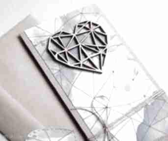 Kartka ślubna:: geometric heart:: watercolors kartki kaktusia