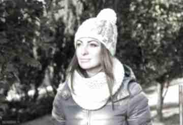 Czapka my choice 3 czapki brain inside zima, pompon, ocieplana,