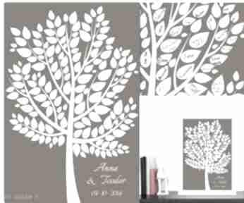 Eleganckie drzewo wpisów gości weselnych - księga w formie