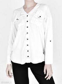 Koszula gaja biała bluzki trzyforu koszule, bluzy, dres, bluzki