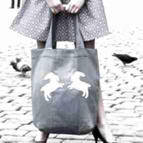 Dżinsowa torba z koziołkami godeco torba, ekologiczna, denim