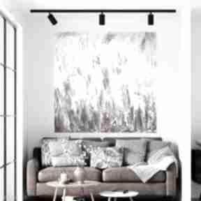 Abstrakcja obraz ręcznie malowany 120x120 byferens duży obraz