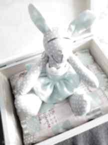 dla dziecka: królik chrzest skrzynka prezent pudełko