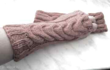 rękawiczki! Rude Mitenki na jesień - wełniane rekawiczki bez