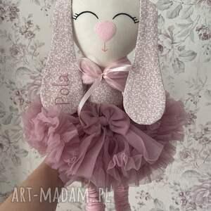 maskotki oliwka króliczek z personalizacją, króliczek, przytulanka, baletnica