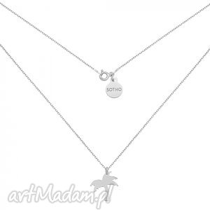 srebrny naszyjnik z palmą - minimalistyczny, srebro, palma, modny