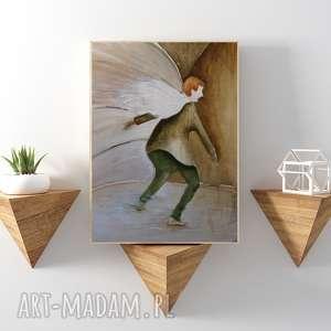 anioł niecnota reprodukcja 20x30 cm, grafika, anioł, dekoracja