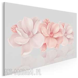 obraz na płótnie - kwiaty różowy 3d 120x80 cm (58201)