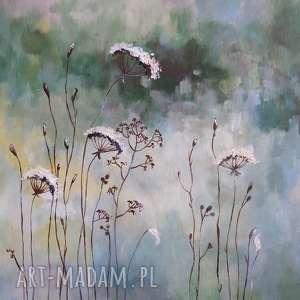 ŁĄKA- obraz akrylowy formatu 50/60 cm, łąka, akryl, jesień, obraz, trawy