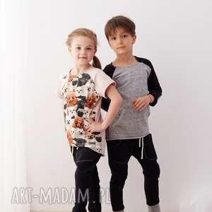 spodnie baggy black, spodnie, baggy, dziecko, wiosna, dzianina