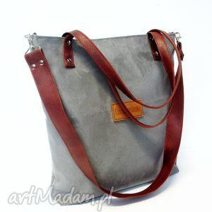 na ramię shopper bag, torba, szara, modna, wygodna, trendy torebki