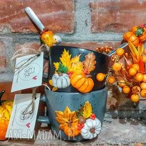 handmade kubki kubek dekorowany ręcznie w jesiennym stylu