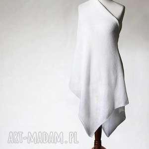 biały ślubny szal - szalik, szal, moher, ślub, akcesoria, handmade