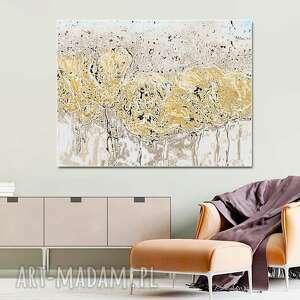 obraz na płótnie wiosenna abstrakcja 120 x 80, nowoczesny design do salonu