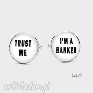 spinki do mankietów bankier - bank, szef, boss, zaufanie, bankowiec, pieniądze