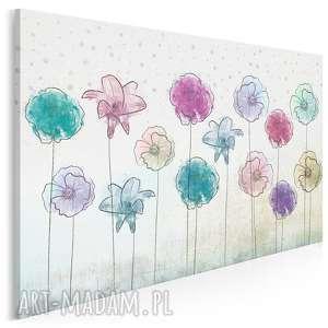 obraz na płótnie - kolorowe kwiaty 120x80 cm 29201, kwiaty, ogród, rośliny