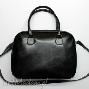 handmade na ramię kuferek weekend - czarny z perłowym połyskiem