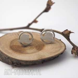 srebrne kolczyki ślimaki - kółka zwierzęta, ślomaki