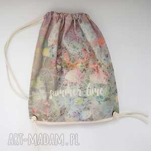 Prezent SUMMER TIME plecak / worek torba - płócienna, torba-plażowa, eco, prezent