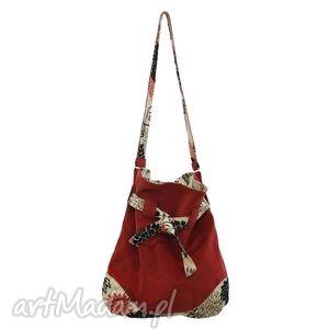 0b2a8c2a911b1 hand-made na ramię 12 -0002 czerwona torba worek xxl torebka na zakupy  sparrow