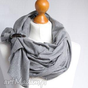 ręcznie robione chustki i apaszki szal chusta bawełniana z zapinką, wiosenno