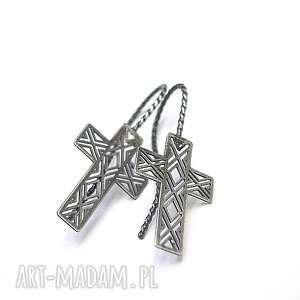 CRUCIFIX - kolczyki, srebro, krzyż