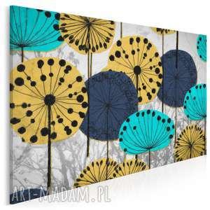 obraz na płótnie - kwiaty dmuchawce 120x80 cm 23701, dmuchawce, kwiaty, nowoczesny