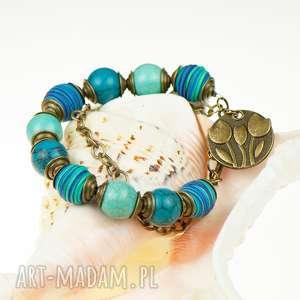 c021 kolorowe improwizacje bransoletka, niebiesk, kolorowa