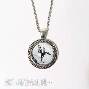 Medalion, naszyjnik - czarny smok 2 cm naszyjniki liliarts