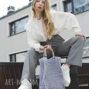 handmade torebka-worek jasnoszary