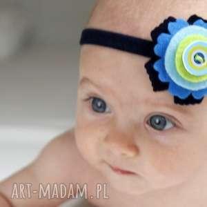 ręcznie robione dla dziecka opaska niemowlęca