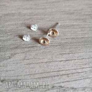 srebrne kolczyki z kryształami swarovskiego, kolczyki, wkrętki