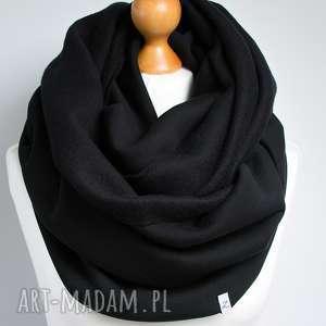 handmade kominy czarny ciepły komin tuba dresowy na zimę, bawełniany gruby