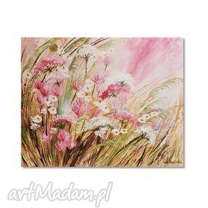 polne kwiaty, łąka, obraz ręcznie malowany 8 , polne, obraz