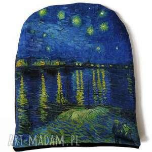czapka gwieździsta noc, van gogh, gwiazdki, pejzaż, obraz