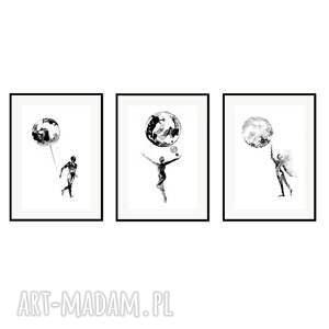plakaty liquid mind, komplet 3 plakatów autorskich