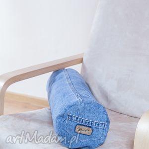 poduszki poduszka z jeansu typu wałek, poduszka, tkanina, recykling, wygoda