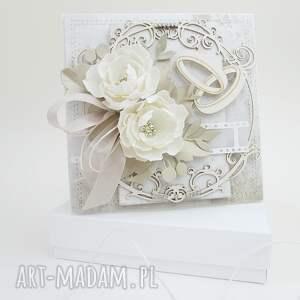 W dniu ślubu - pudełku scrapbooking kartki marbella ślub