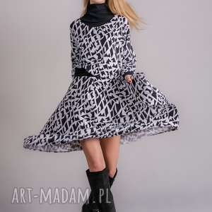 spódnice spódnica midi biało-czarnaspódnica biało-czarna