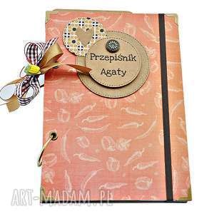 hand-made scrapbooking albumy pikantny przepiśnik - notatnik kulinarny