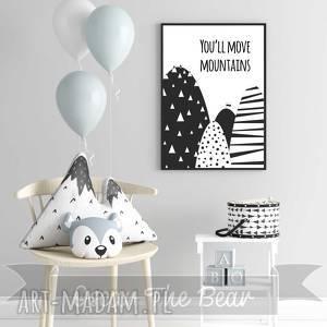 """Plakat """"mountains"""" format a3 pokoik dziecka oscar the bear góry"""