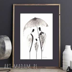 Ręcznie malowany, abstrakcja, minimalizm, abstrakcja