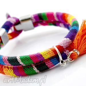 ręczne wykonanie bransoletka boho joyee rainbow
