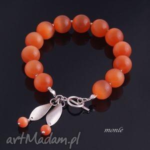 uleksyt pomarańczowa bransoletka - biżuteria