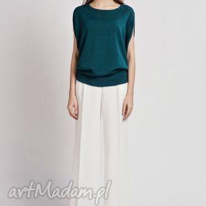Bluzka, BLU102 zielony, top, kimono, oversize, bluzka, zamek