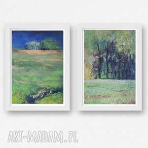 dwa pejzaże-prace wykonana pastelami suchymi, pejzaż, pastele
