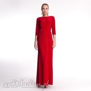 Fabienne - czerwona suknia wieczorowa sukienki pawel kuzik moda
