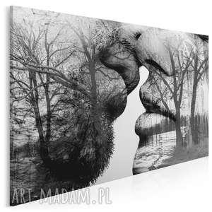 obraz na płótnie - pocałunek drzewa 150x100 cm (29501/150x100)