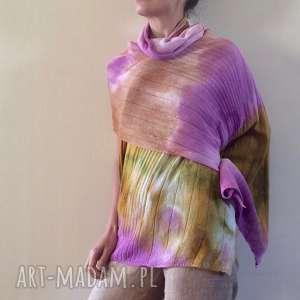 szaliki pastelowy miękki z jagnięcej wełny ciepły szal, wełniany, szal