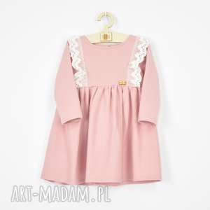 sukienka z bawelny koronkowa falbanka, sukienka, dladziewczynki, dresowa